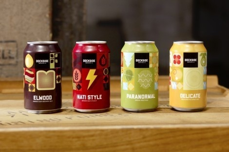 Dockside Brewing Company #packaging #beer #brewing #dockside