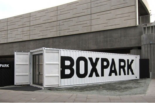 StudioMakgill - Boxpark #white #black #boxpark #industrial #makgill #retail
