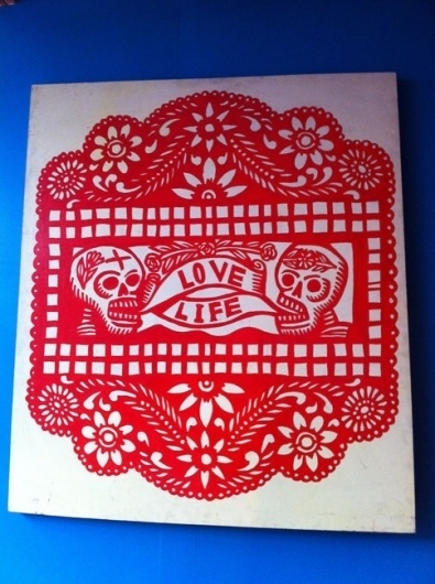 eyeone | seeking heaven #silkscreen #printmaking #of #mano #the #press #la #skulls #day #woodblock #dead