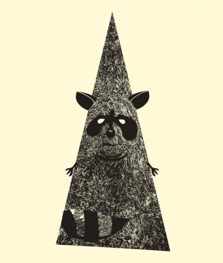 5558945512_c5083beab9_z.jpg 500×589 pixels #illustration #raccoon