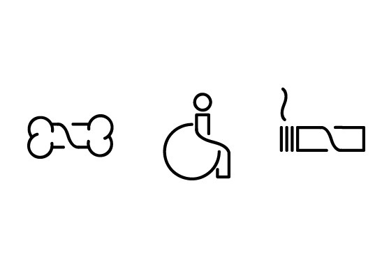 Pictograms for hardware warehouse wayfinding system on the Behance Network #icons