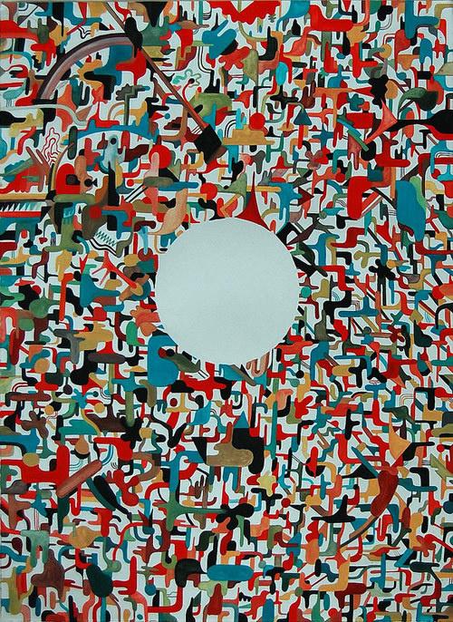 Artist painter Feral Child #circle #illustration #color #painting