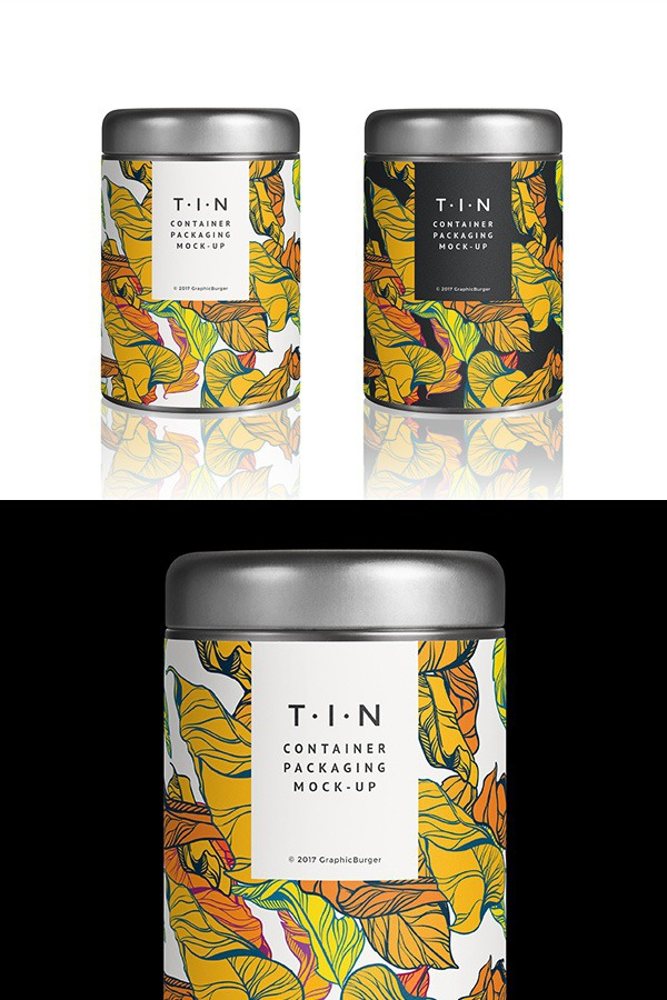Tin Container Packaging MockUp | GraphicBurger