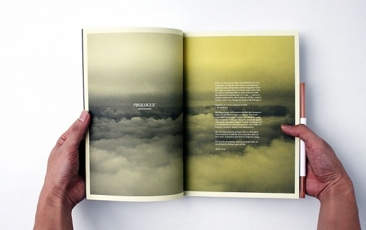 Graphic-ExchanGE - a selection of graphic projects #clouds #sky #print #yellow #book