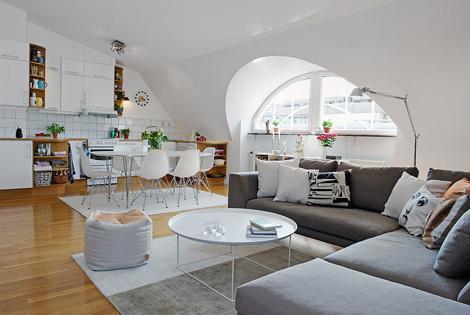 Квартира в Гётеборге #white #interiors #dream #home #on