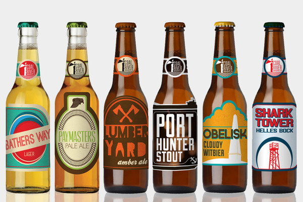 Coal River Brewing Co. Aaron Craig #beer #labels #branding #packaging #aaron #identity #bottles #coal #handball #friendly #logo #river #craig