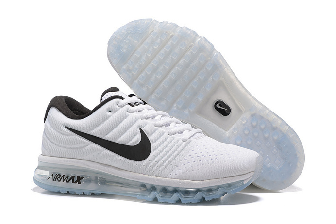 Knitting line all palm nano drop plastic technology Men's Air Max 2017 Sports Shoes White