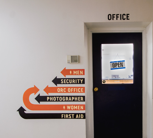Portland Meadows Physical Space, Signage & Wayfinding / The Official Manufacturing Company #arrows #design