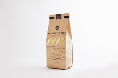 Vassilaros0050_TwelveOz #packaging #craft #vassilaros #bags #gold #coffee #foil