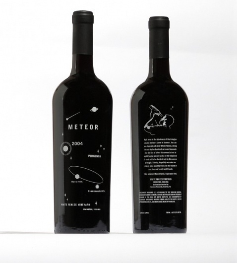 WORK Labs – Always Thinking » White Fences Vineyard #packaging #simplicity #wine #meteor