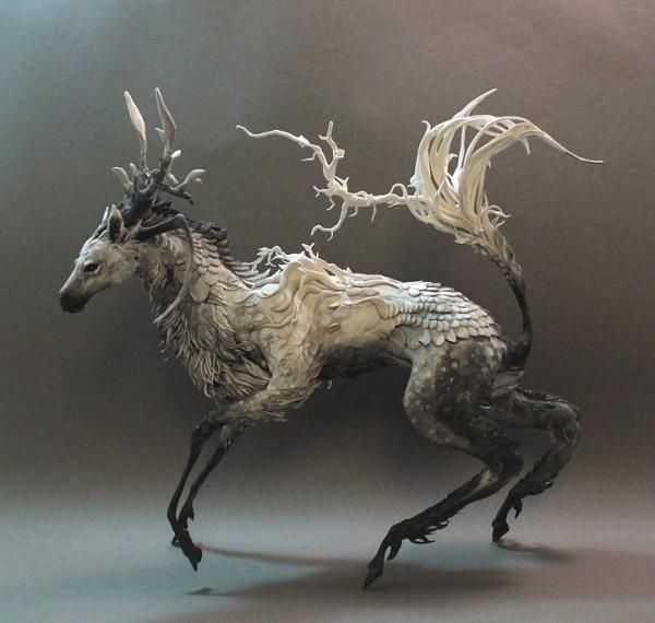 Dapple Kirin by ~creaturesfromel on deviantART #sculpt #art #creature