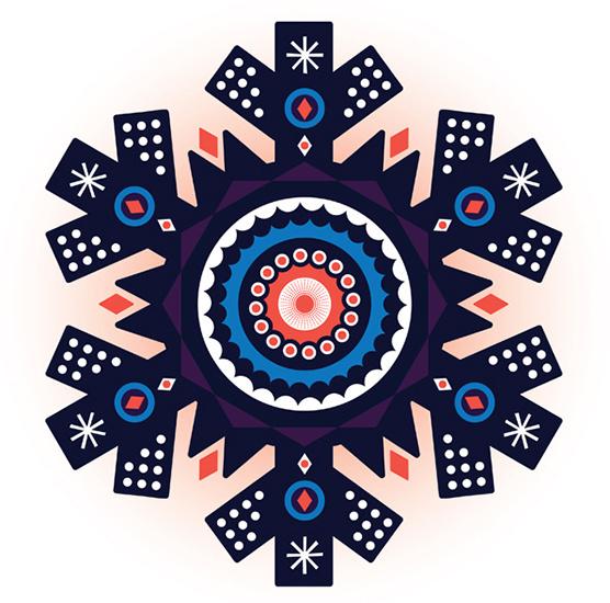 Onesidezero Illustration : Artwork by Brett Wilkinson #onesidezero #snowflake #brett #wilkinson