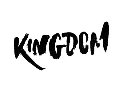 Kingdom #lettering #painted #brush #custom #type #typography