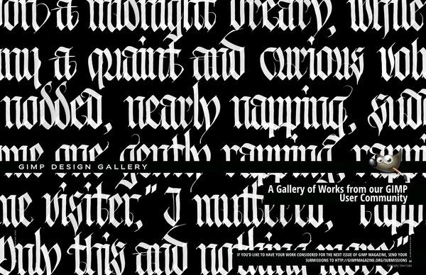 Design Gallery Magazine Layout #calligraphy #bold #magazine