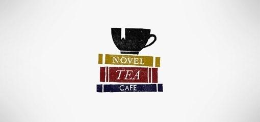 Design Work Life » Student Work: Woody Harrington: Novel Tea Cafe Identity #icon #logo #book #tea