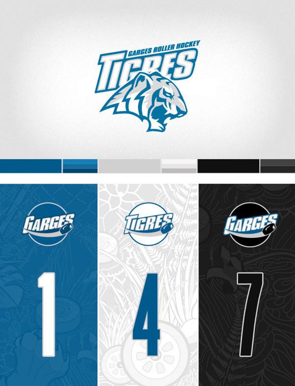 Tigres de garges roller hockey team #charte #branding #graphic #logo #chart