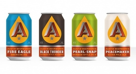 Austin Beerworks | Lovely Package #beer #beerworks #design #austin #can #package