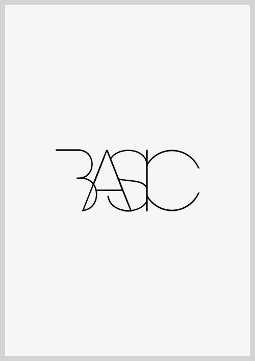 Basic, black & white | typography / graphic design: @ between studio