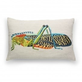 Pillows & Throws - Shop by Category - Home & Decor #bug #home #embroidery #insect #pillow #grasshopper #decorative