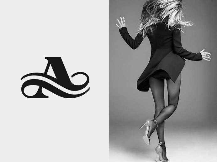 A by José #lettering #design #type #monogram #fashion #logo