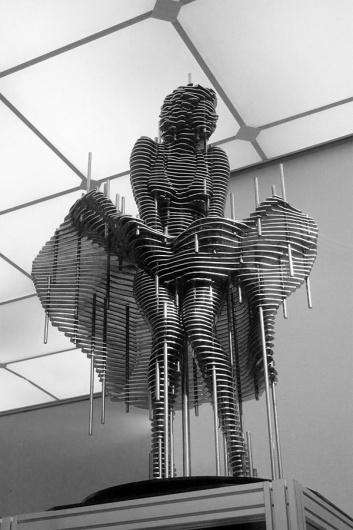 Stahl-Skulpturen von Park Chan-Girl (Steel Sculptures, 8 Bilder) > Design und so, Installationen, Sculptures > arts, artworks, korea, nut, sculpture, #chan #sculpture #monroe #park #metal