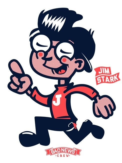 This is the beginning of something I #jim #design #stark #illustration #character