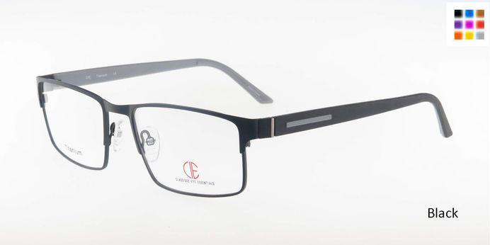 Black CIE SEC302T Eyeglasses.