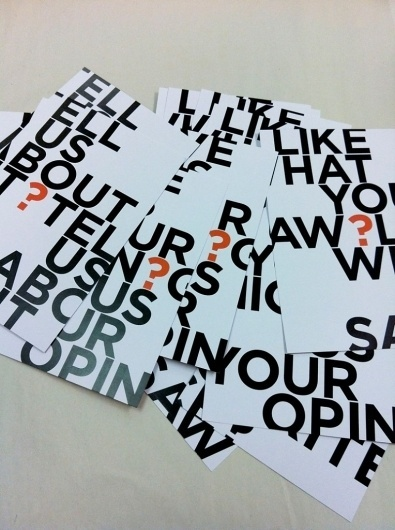 New work: Gallery comment cards | Fives & Zeros #gallery #gotham #print #cards #typography