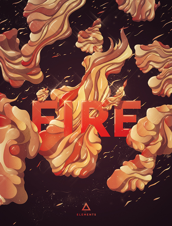 Fire #abstract #theluminarium #elements #fire #typography