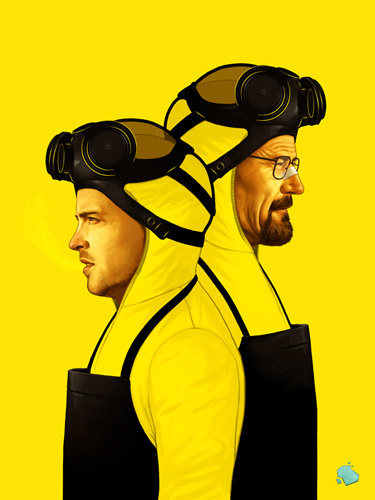 The Art Of Mike Mitchell #blue #yellow