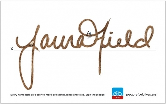 PEOPLE FOR BIKES - SIGNATURE ADS | Colle+McVoy #bikes #logos #people #bicycles #pe #for #signature #colle+mcvoy