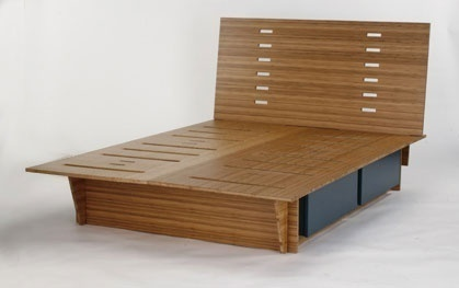 Stillwell bed : furniture : WONK | NYC ($500+) — Svpply #wood #svpply #bed #furniture