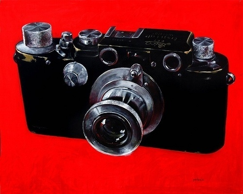 All sizes | Leica Camera | Flickr - Photo Sharing! #rangefinder #retro #leica #vintage #painting #oil