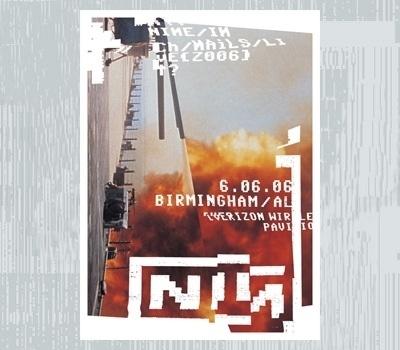 Ian Walsh Design #nin #republic #nine #designers #design #inch #glitch #poster #nails