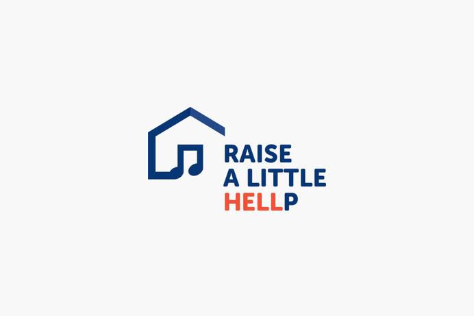 Raise A Little Hellp, Charity Event Logo #branding #icon #charity #music #logo