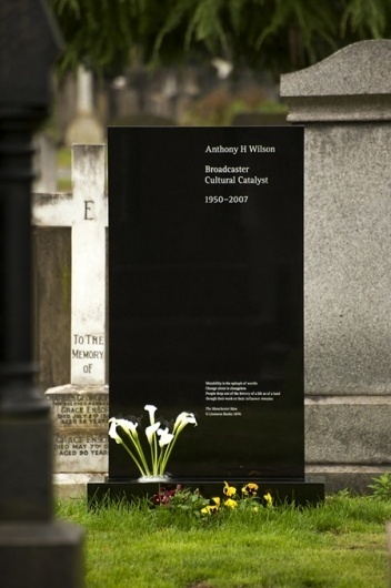 FormFiftyFive – Design inspiration from around the world » Blog Archive » Designer headstones #headstone #saville #tony #wilson #grave #kelly #peter #ben