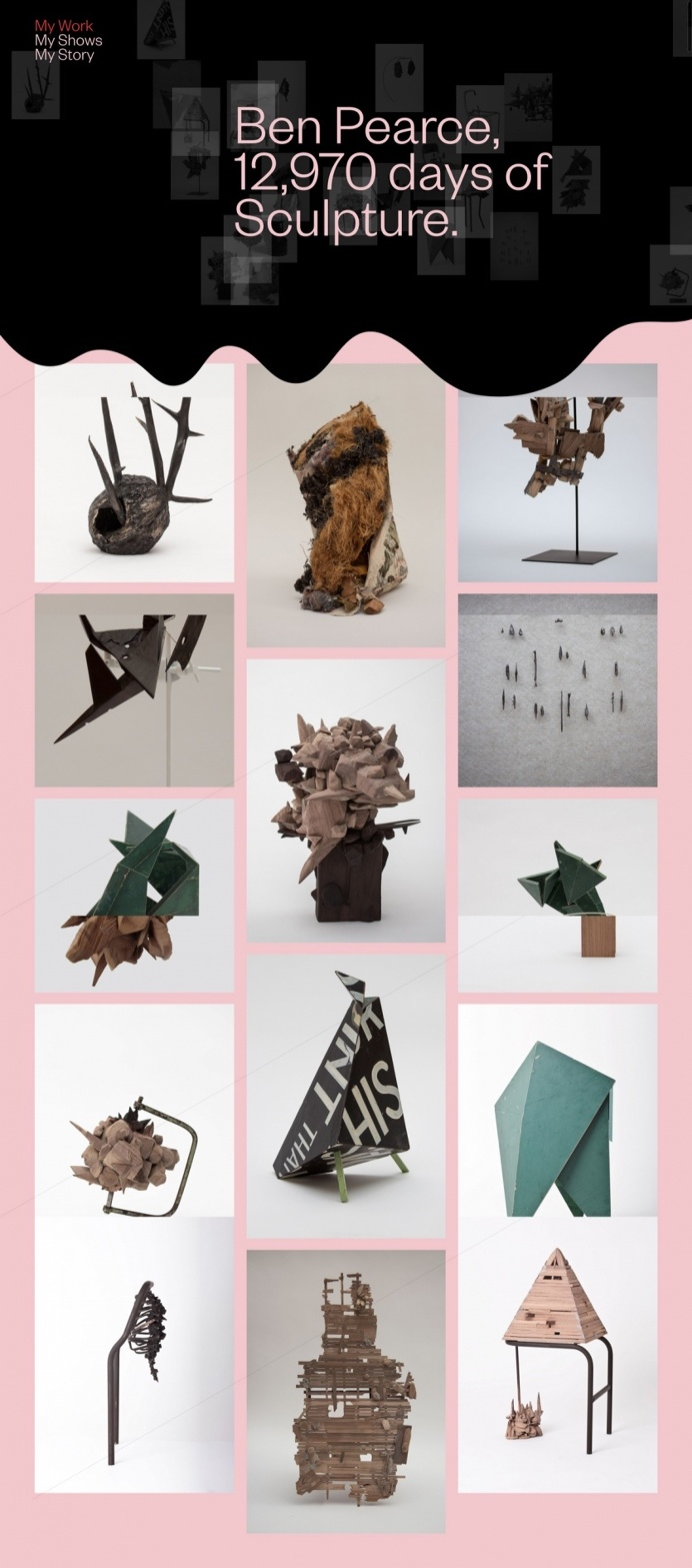 Ben Pearce Art sculptures abstract exhibition webdesign Mindsparkle Mag designblog award site of the day website inspire inspiration graphi