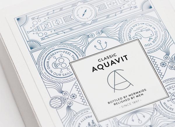 Classic Aquavit by Nina Brandt #brandt #packaging #design #graphic #cover #nina #illustration