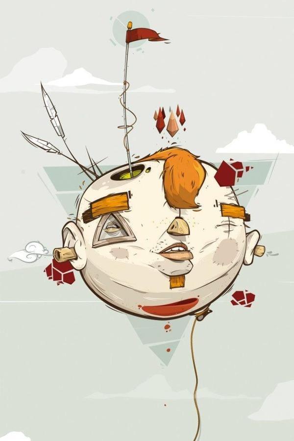 Balloon boy #vector #print #balloon #illustration #character