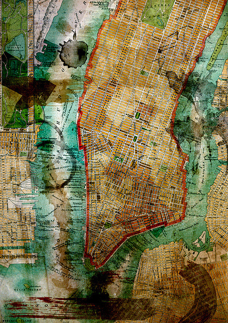 NYC Old Map #design #art #maps #photography #manhattan #newyork