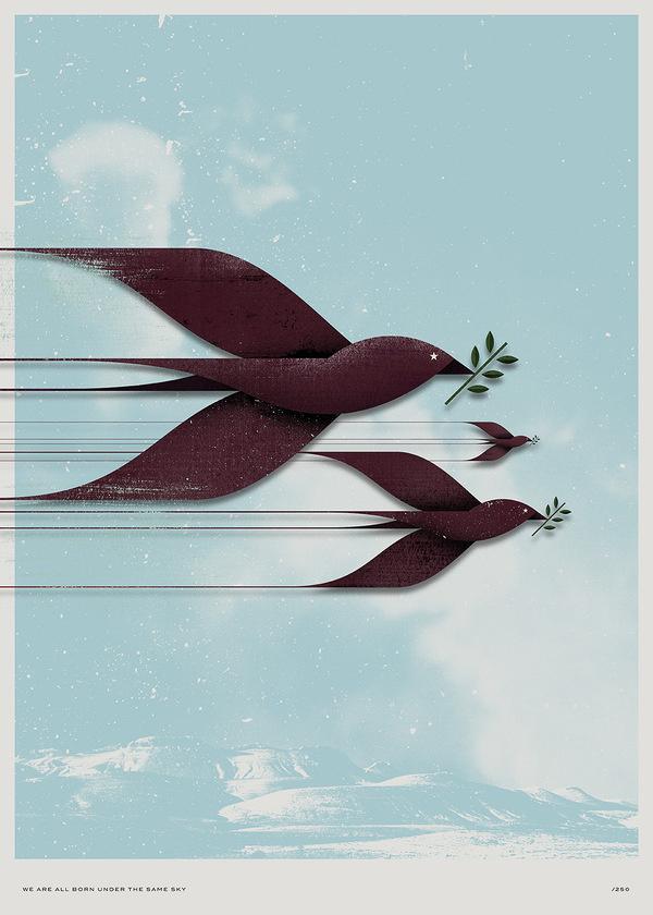 Les couleurs #syria #birds #tictail #poster #peace