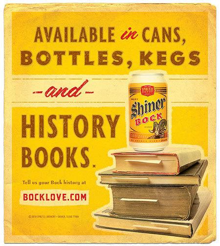 Shiner Bock Love Ad #beer #advertising