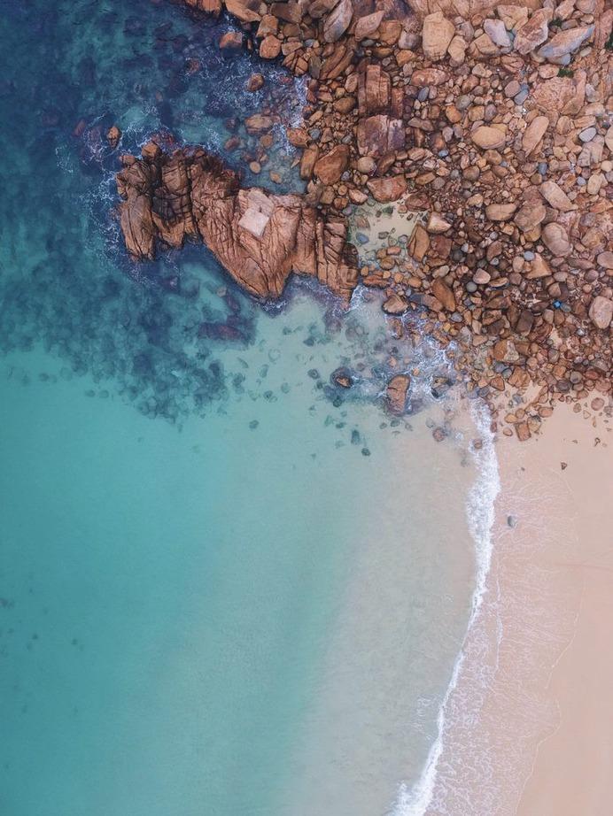Ocean, shoreline, water and sea HD photo by Taylor Simpson