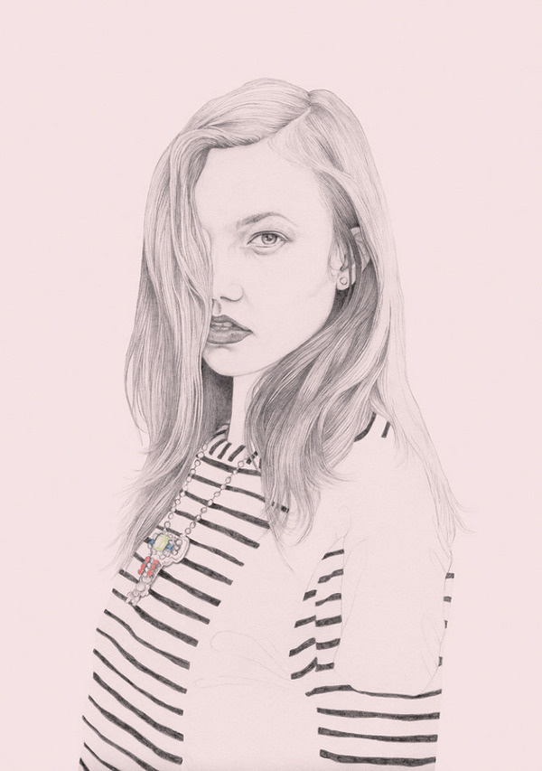 Karlie Kloss, for Lewitt #drawing #karlie #kloss