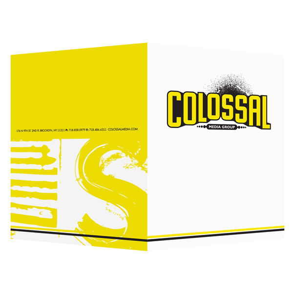 Colossal Media Art Project Presentation Folder (Front & Back View) #inspirational #yellow #design #presentation #folder