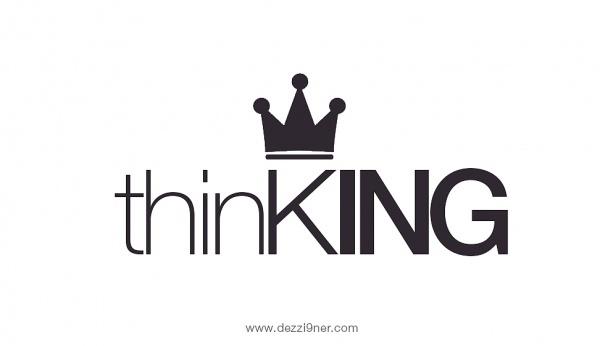 Ezz Osman's Online Portfolio #thin #think #dezzi9ner #thinking #logo #king