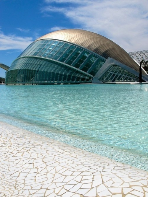 CJWHO ™ (The City of Arts and Sciences, Valencia, Spain by...) #spain #sciences #valencia #city #design #of #the #pool #arts #photography #architecture #and #science