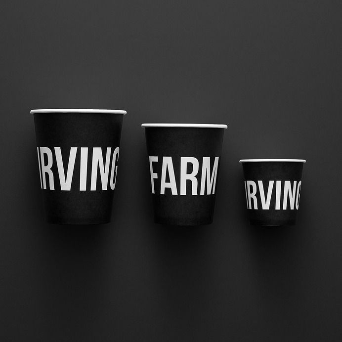 Irving Farm New York Identity - Mindsparkle Mag Standard Black worked on Irving Farm's previous packaging, so when the company sought a 2018 NYC-centric rebrand as Irving Farm New York, they were attuned to the brand's core concept and identity. #packaging #identity #branding #design #color #photography #graphic #design #gallery #blog #project #mindsparkle #mag #beautiful #portfolio #designer