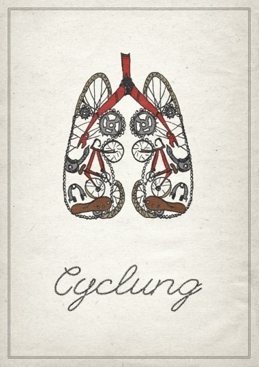 Designing on Tea #cyclung #bicycle #print #texture #chain #lungs #bike #tea #cycling #paper
