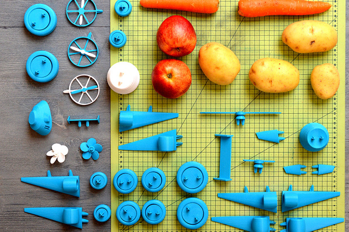 'open toys' were created by canadian industrial designer Samuel N. bernier #toys #fruits #play